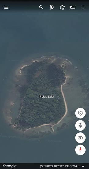 Tanda SOS Pulau Laki Google Maps