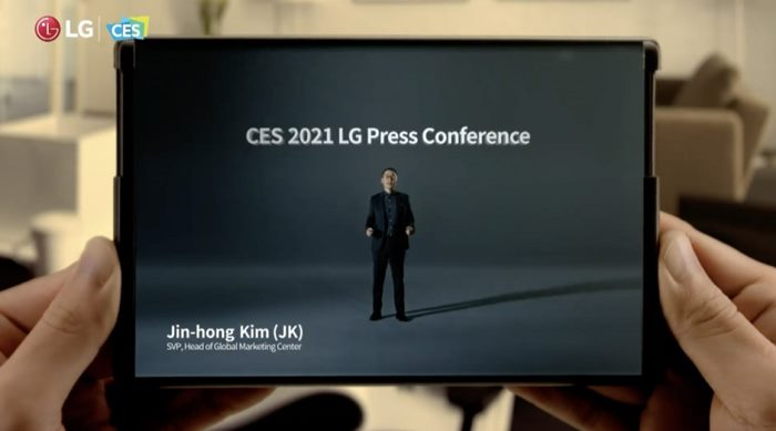 LG Rollable, Smartphone Layar Gulung Mejeng di CES 2021