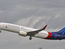 Ilustrasi pesawat Sriwijaya Air