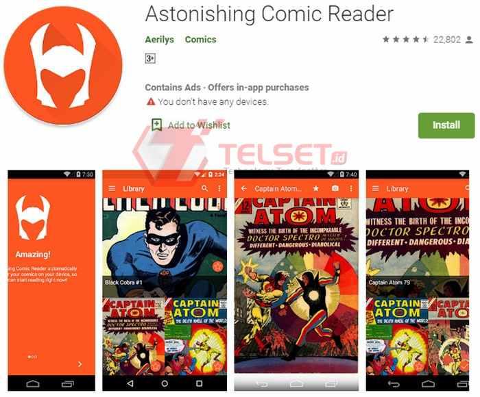 Aplikasi Astonishing Comic Reader