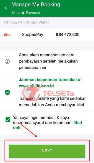 Cara Beli Tiket Citilink ShopeePay