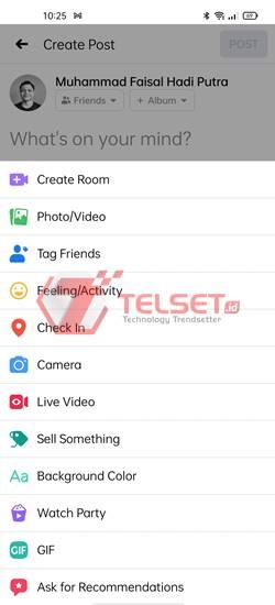 Cara posting GIF di Facebook
