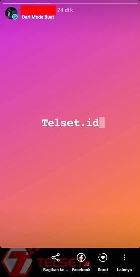 Cara membuat teks bergerak Instagram Stories IG Story