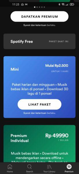 Cara Berlangganan Spotify Premium Mini