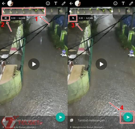 Cara Mute Video WhatsApp