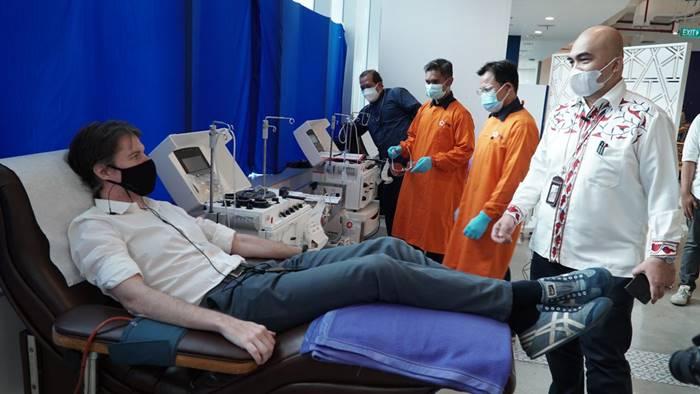 Karyawan XL Axiata Ikuti Donor Plasma Konvalesen