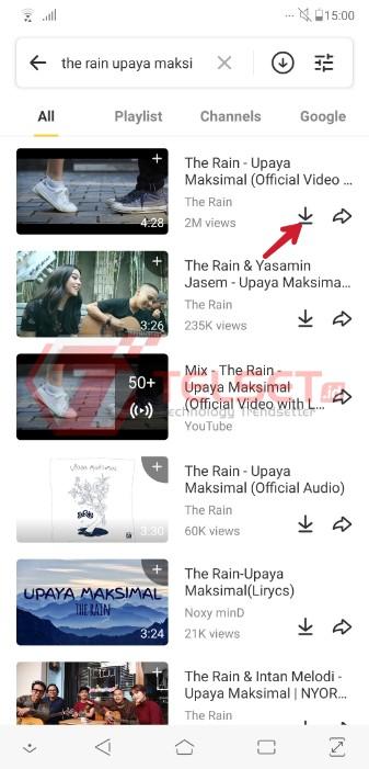 Download MP3 di YouTube dengan Snaptube