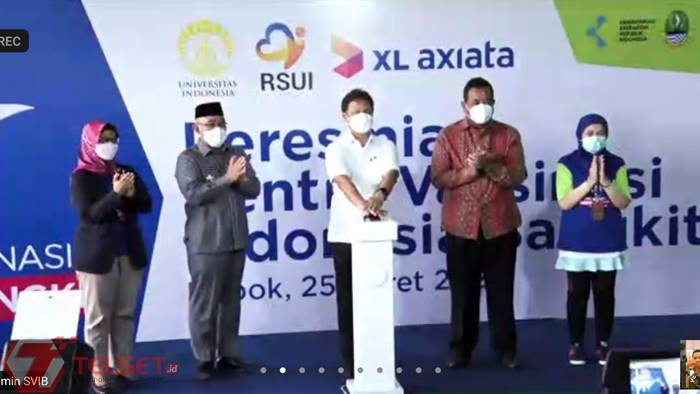 XL Axiata dan UI Resmikan Sentra Vaksinasi Covid-19 di Depok