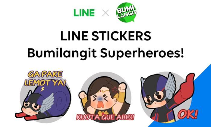 Stiker LINE Bumilangit Universe