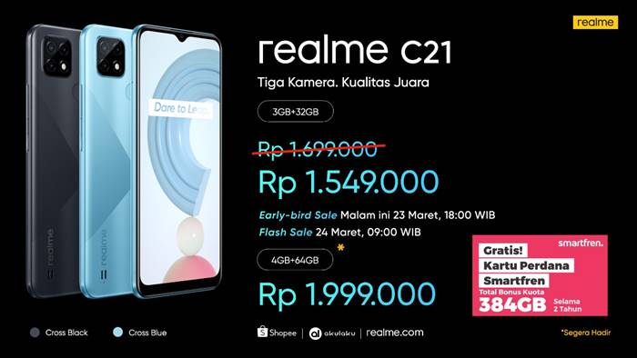 spesifikasi harga realme c21 Indonesia