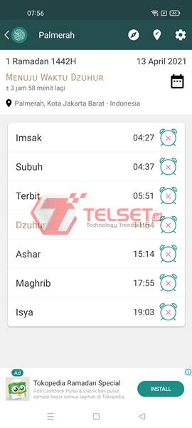 Aplikasi Jadwal Puasa Ramadan Android Gratis