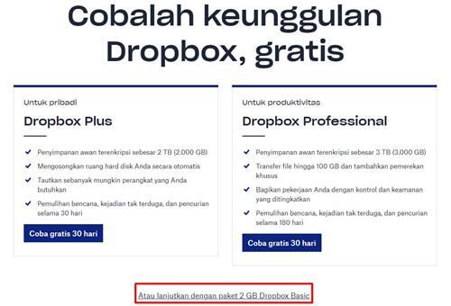 Cara Membuat Akun Dropbox Gratis Android