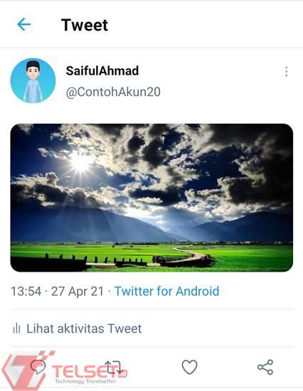 cara posting gambar 4K Twitter