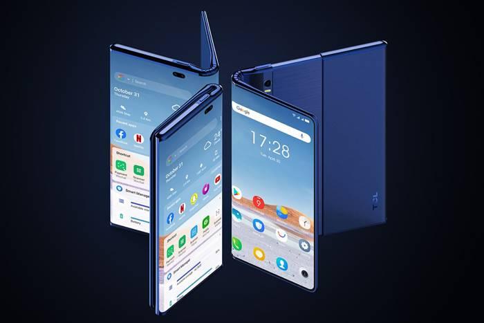 TCL Fold n Roll, Smartphone Canggih dengan Layar Lipat dan Gulung