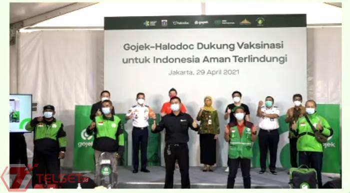 Gojek Vaksinasi Covid-19 Puluhan Ribu Mitra Driver di Jakarta