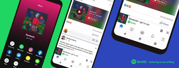 Spotify Rilis Fitur Miniplayer, Putar Lagu Bisa Lewat Facebook