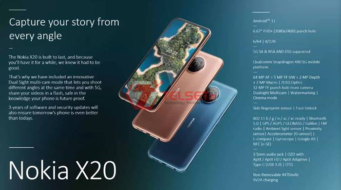 Nokia X20 Indonesia