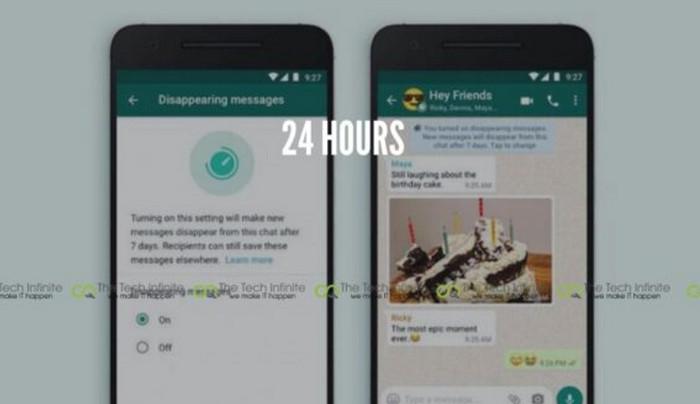 WhatsApp Uji Coba untuk Opsi 24 Jam Pesan Terhapus Sendiri