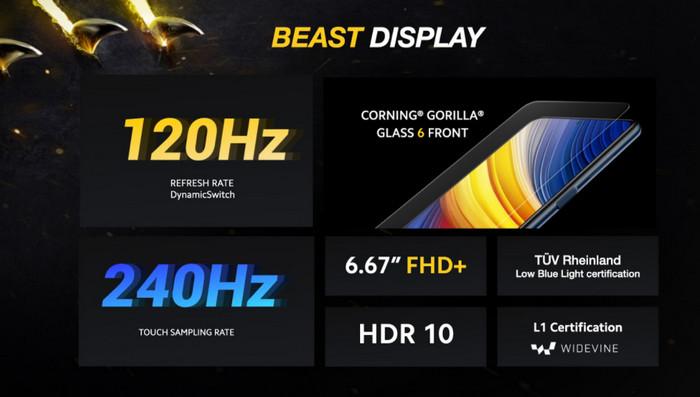 Poco X3 Pro Display Specs