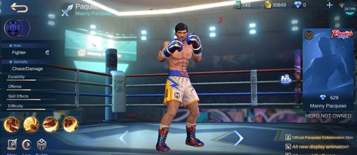 skin manny pacquiao Mobile Legends