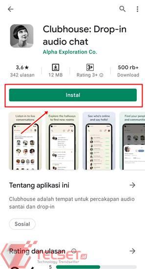 Cara daftar Aplikasi Clubhouse Android