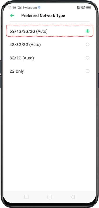 Cara mengaktifkan 5G di Oppo