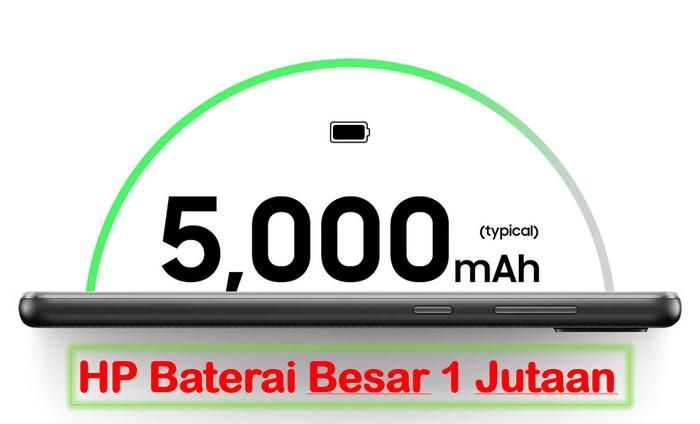 10 HP Baterai Besar 5000mAh Murah 2021, Harga 1 Jutaan