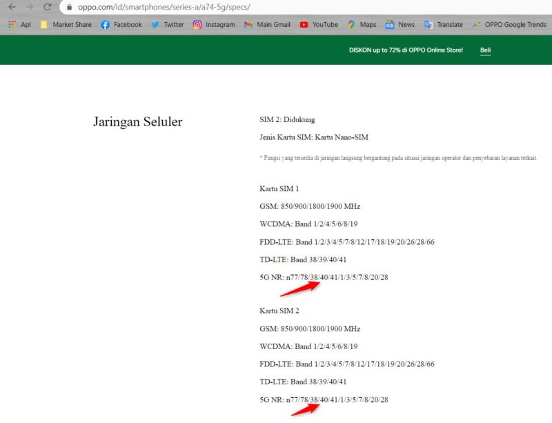 Oppo A74 5G Telkomsel Indonesia