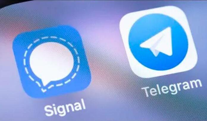 Signal Telegram WhatsApp