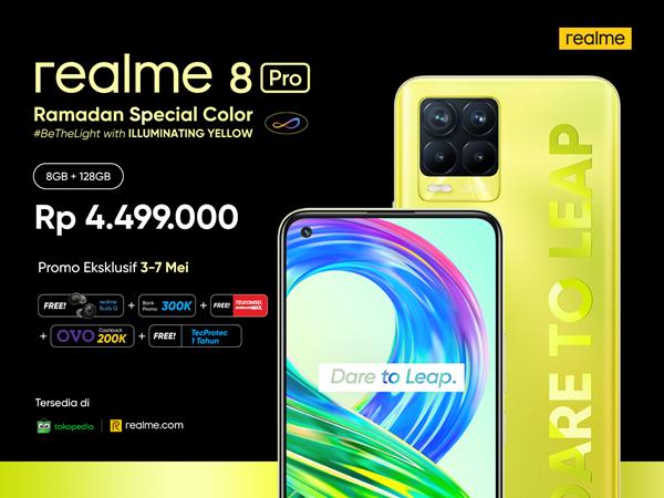 Harga Realme 8 Pro Illuminating Yellow Indonesia
