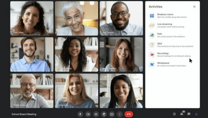 Google Meet Live Streaming