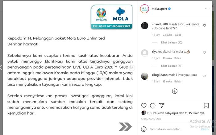 Mola Sport TV Euro 2020