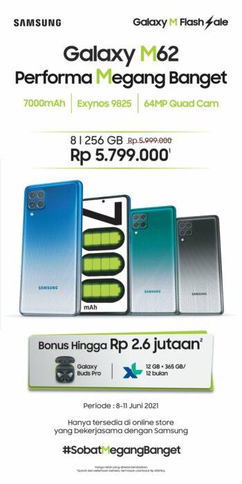 Harga Samsung Galaxy M62 Indonesia