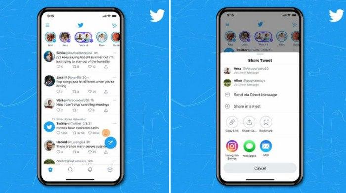 Pengguna iOS Bisa Langsung Berbagi Tweet ke Instagram Stories