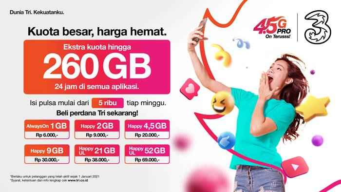 Kuota Internet Tri Indonesia