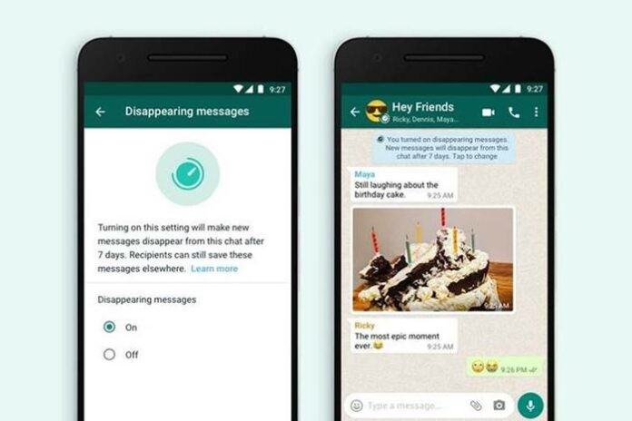 Fitur Dissapearing Messages WhatsApp