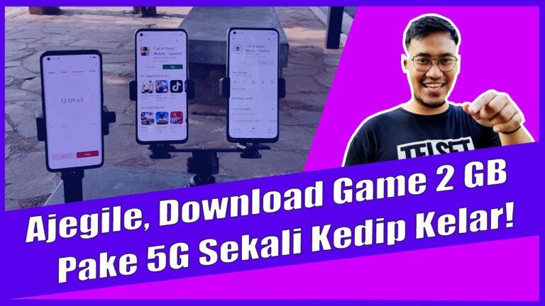 Test Kecepatan 5G: Download Game CODM Cuma 2 Menit