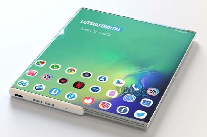 Smartphone Layar gulung Samsung