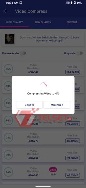 Cara Kompres Video Android