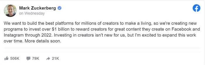 Facebook Konten Kreator