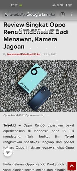 Fitur Free Screenshot Oppo Reno6