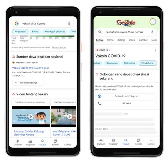 Jenis vaksin Covid-19 Google Trends