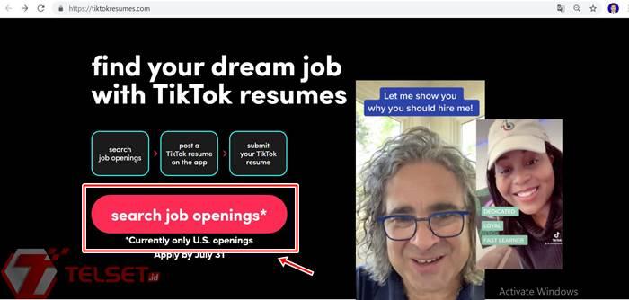 Melamar kerja TikTok Resumes