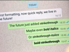 Cara membuat tulisan WhatsApp tebal miring dicoret