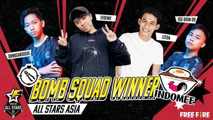 Tim Indomee Indonesia jadi Juara Free Fire All Stars 2021