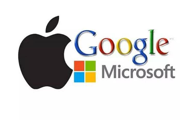 Pendapatan Google Apple Microsoft