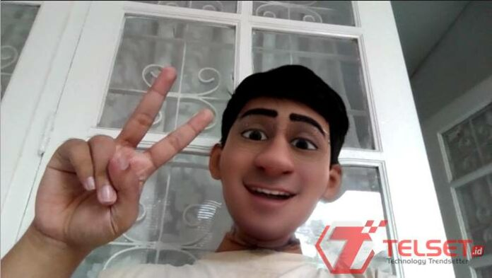 wajah kartun di Zoom