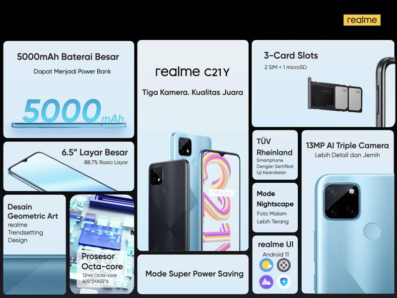 Spesifikasi Harga Realme C21Y Indonesia