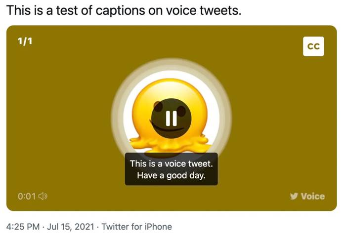 Teks Twitter Voice Tweet