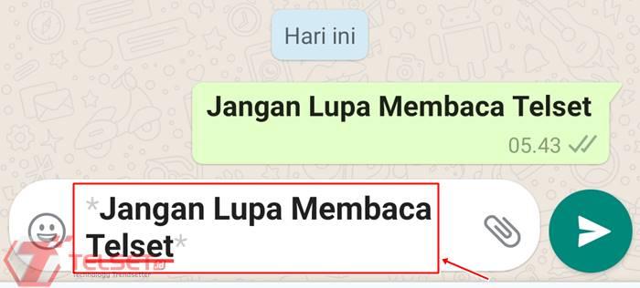 Cara membuat tulisan WhatsApp jadi tebal bold